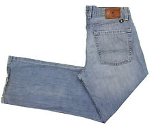 Lucky Brand 361 Vintage Straight Jeans 35x30 Medium Wash Cotton Denim Whiskering