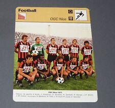 FOOTBALL 1977 OGC NICE NISSA OGCN GYM AIGLONS RAY BARATELLI KATALINSKI JOUVE