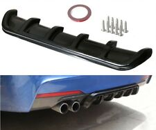 "26""x5"" gloss Black Universal ABS Rear Shark 6 Fin Curved Bumper Lip Diffuser Kit"