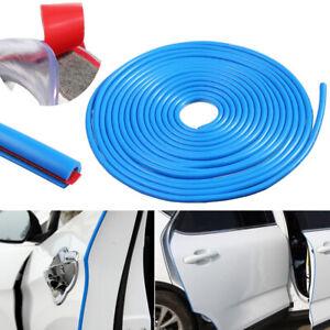 Blue 9.6ft Universal Car Door Edge Rubber Protector Moulding Trim Guard Strip