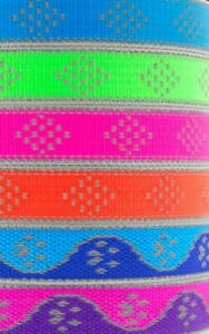 """Lupine NEW High Lights Reflective patterns 1/2"""" Collars or Leashes"""