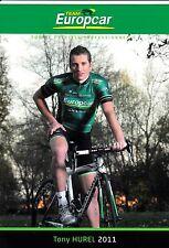 CYCLISME carte cycliste TONY HUREL équipe EUROPCAR 2011