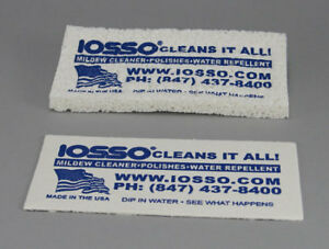 2 x IOSSO Heavy Duty Sponge Mold Mildew cleaning Sail PVC Canvas Tent Canopy