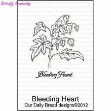 Bleeding Heart, Cling Style Unmounted Stamp DAILY BREAD DESIGNS - NEW, D316