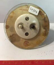 59304 Interruttore FBC in vetro e bachelite vintage - Pulsante per suoneria