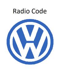 VW Radio Code / Key Code Volkswagen RCD RNS Blaupunkt Navigation Alpha Technisat