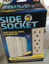 Side Socket Swivel Outlet with Surge Protector 6 Electrical Plug Power Free Ship