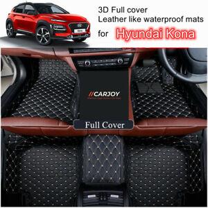 3D Shaped Customized Waterproof Car Floor Mats for Hyundai Kona all models 2021