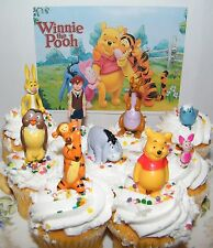 Disney Winnie the Pooh Cake Toppers Set of 9 Figures with Pooh, Piglet, Eeyore !