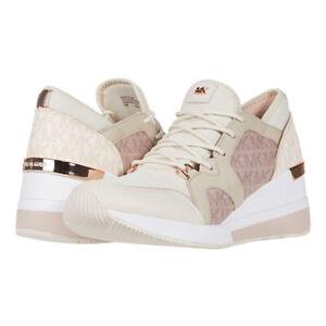 MICHAEL Michael Kors Liv Trainer Wedge Sneakers Women's Casual Shoes Light Cream