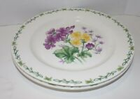 Lot of 2 Thomson Pottery Floral Garden Chop Serving Plates 12""
