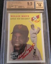 WILLIE MAYS 2003 TOPPS HERITAGE REAL ONE RED INK AUTOGRAPH BGS 9.5 / 10 AUTO /54
