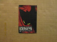 Chl Corpus Christi Icerays Vintage Defunct 2009-2010 Logo Hockey Pocket Schedule