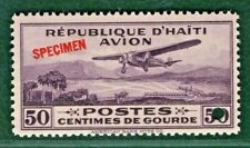 HAITI Air Mail Stamp Scott.C2 50c (1929) SPECIMEN Superb Mint MNH UMM OG PURPLE4