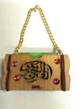 Kleiner Koran - Autoanhänger- Mini Quran - Taschen Koran  Holz 6,5cm x 3,5cm