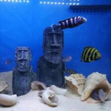 Resin Roman Statue Artificial Stone for Ornament Aquarium Fish Tank Decor L