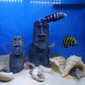 Resin Roman Statue Artificial Stone for Ornament Aquarium   Tank Decor L