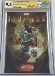 Guidebook to the Marvel Cinematic Universe Iron Man Signed Stan Lee CGC 9.8 SS