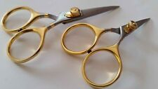 "Fly Tying Razor Scissors 4"" & 5"" Set Bent Shaft Extremely Sharp Fly tying tools"