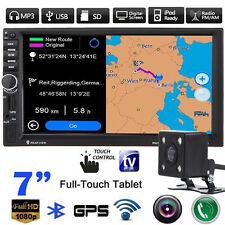 "Navegación GPS Reproductor de MP3 2DIN 7""Car FM TV Radio Estéreo Touch Bluetooth + Cámara"