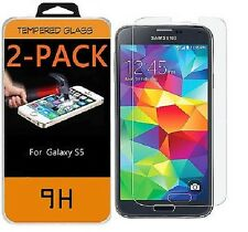 2-Pack Premium Tempered Glass Screen Protector For Samsung Galaxy S5 Real