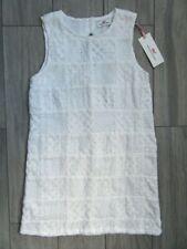 VINEYARD VINES GIRLS EYELET PATCHWORK DRESS, WHITE CAP, NWT, 7