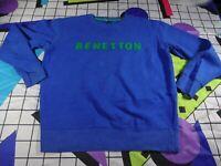vtg 90s benetton spell out  sweatshirt sweater jumper