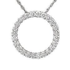 "1.50 Ct Round Diamond Circle Style Pendant Necklace 14k Gold White 18"" Chain G"