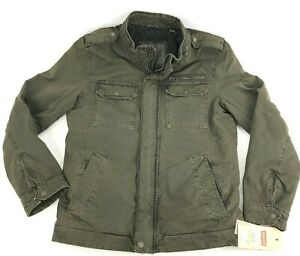 Levi's Military Coat Mens S Fleece Lined Jacket Full-Zip Durable Cotton Pockets