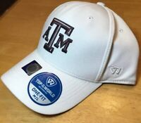 Texas A&M Aggies Top Of The World NCAA Steam White M/L One Fit Fitted Cap Hat
