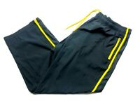 Under Armour Mens Black Yellow Windbreaker Sweatpants Joggers Size 3XL Loose
