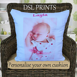 Personalised Cushion Pillow Case Cover Your Image Name Photo Gift Fathers Day