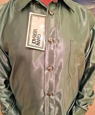 VERSACE CLASSIC MEN'S SHIRT MADE IN ITALY GREEN NEW WT/M