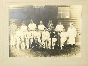"c1900 ESH WINNING Cricket Club + Trophies Photograph Colliery Durham 6x4.5"" #WP"