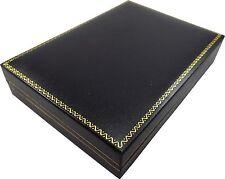 Black Leatherette Necklace Pendent Gift Box Black Jewelry Organizer Storage