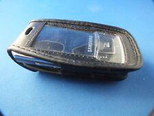 Cuero bolso funda de cuero para Samsung sgh-d900i funda nostalgia Black negro