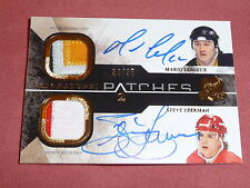 10-11 THE CUP Mario LEMIEUX Steve YZERMAN 34/35 Dual Signature SICK PATCHES Auto