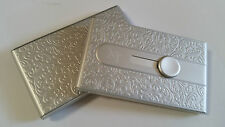 Silver Automatic Business Card Holder