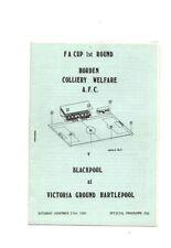 Blackpool Away Team FA Cup Football Programmes