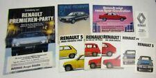 6 Prospekte Renault 4 5 9 14 18 20 25 80er + Farben und Polster + Preisliste 79