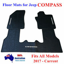 Latex Rubber Waterproof Floor Mats Customized for Jeep Compass M6 2017 - 2018