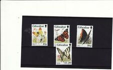 GIBRALTAR - 1997 BUTTERFLIES SET 4 UNMOUNTED MINT