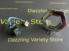 2 x DANIC Chrome Hexagonal Tilt Light Fitting MR16 50W LV Ceiling Adjustable