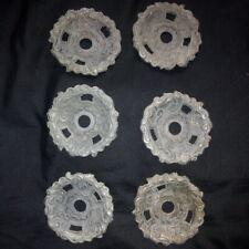 6 Coupelles anciennes (Bobèches)  pour lustres, appliques, girandoles