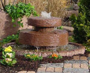 Mühlsteinbrunnen Springbrunnen Brunnen Wasserspiel Werksandstein Stein 224kg
