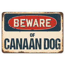 Beware Of Canaan Dog Rustic Sign SignMission Classic Rust Wall Plaque Decoration