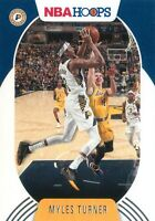 Myles Turner 2020-21 Panini NBA Hoops Basketball Base Card #199 Indiana Pacers