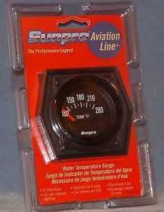 "Sunpro 2"" Electrical Water Temperature Gauge New Black / Black Bezel CP8083"