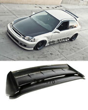 For 96-00 Civic EK9 3Dr SEEKER V2 Style Carbon Fiber Rear Roof Spoiler Wing Kit
