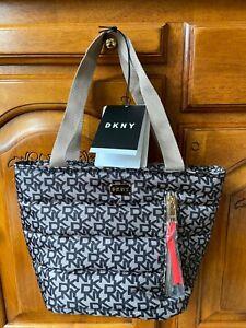 DKNY Signature Thermal Lunch Bag Tote Cooling Handbag Food Bag Black Brand New
